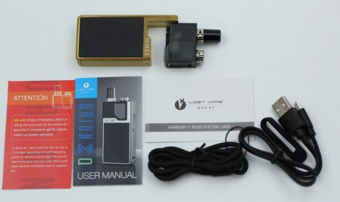 Lost Vape Orion Q Quest 17w kit付属品